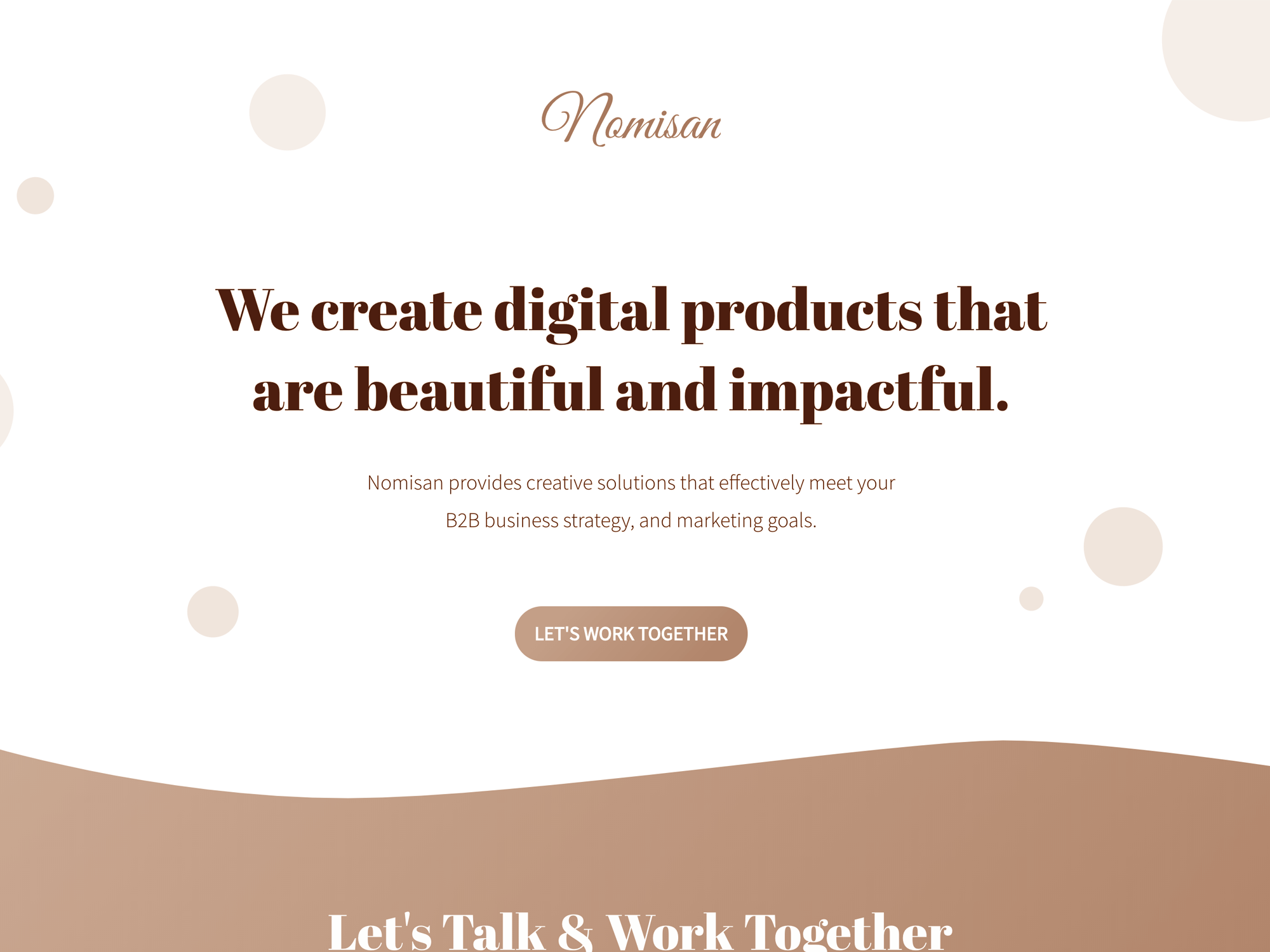 Preview case study for nomisan