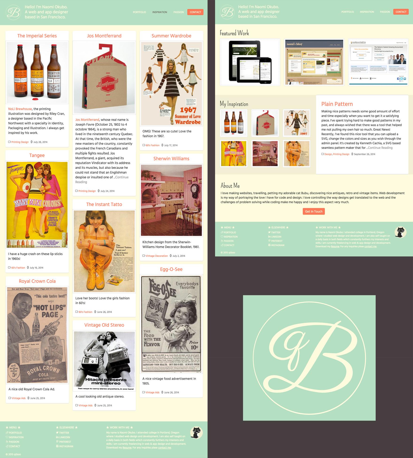 qtBoo Portfolio Design
