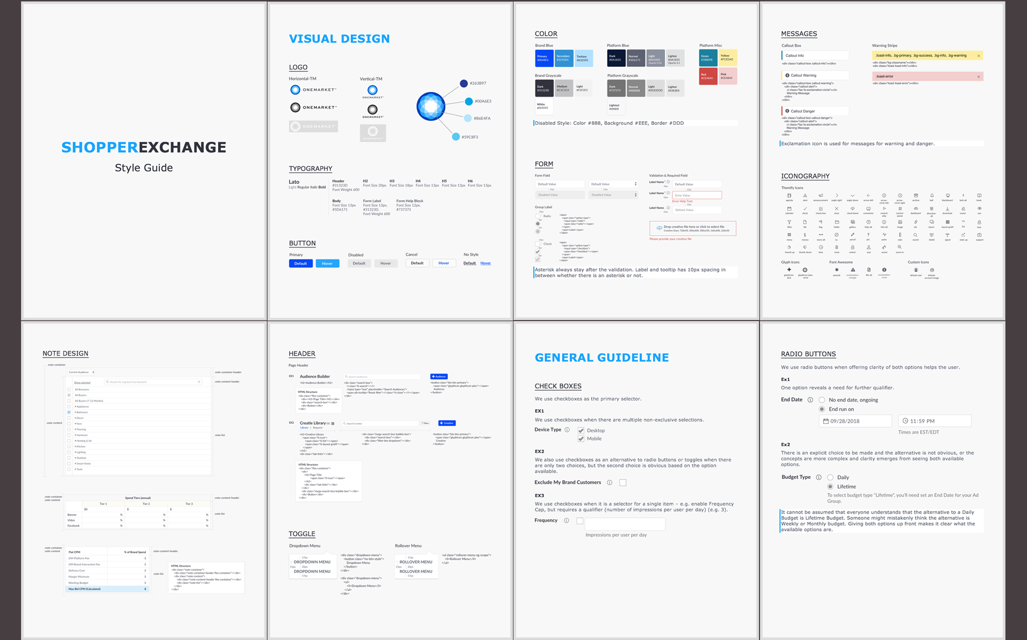 OneMarket Style Guide Design