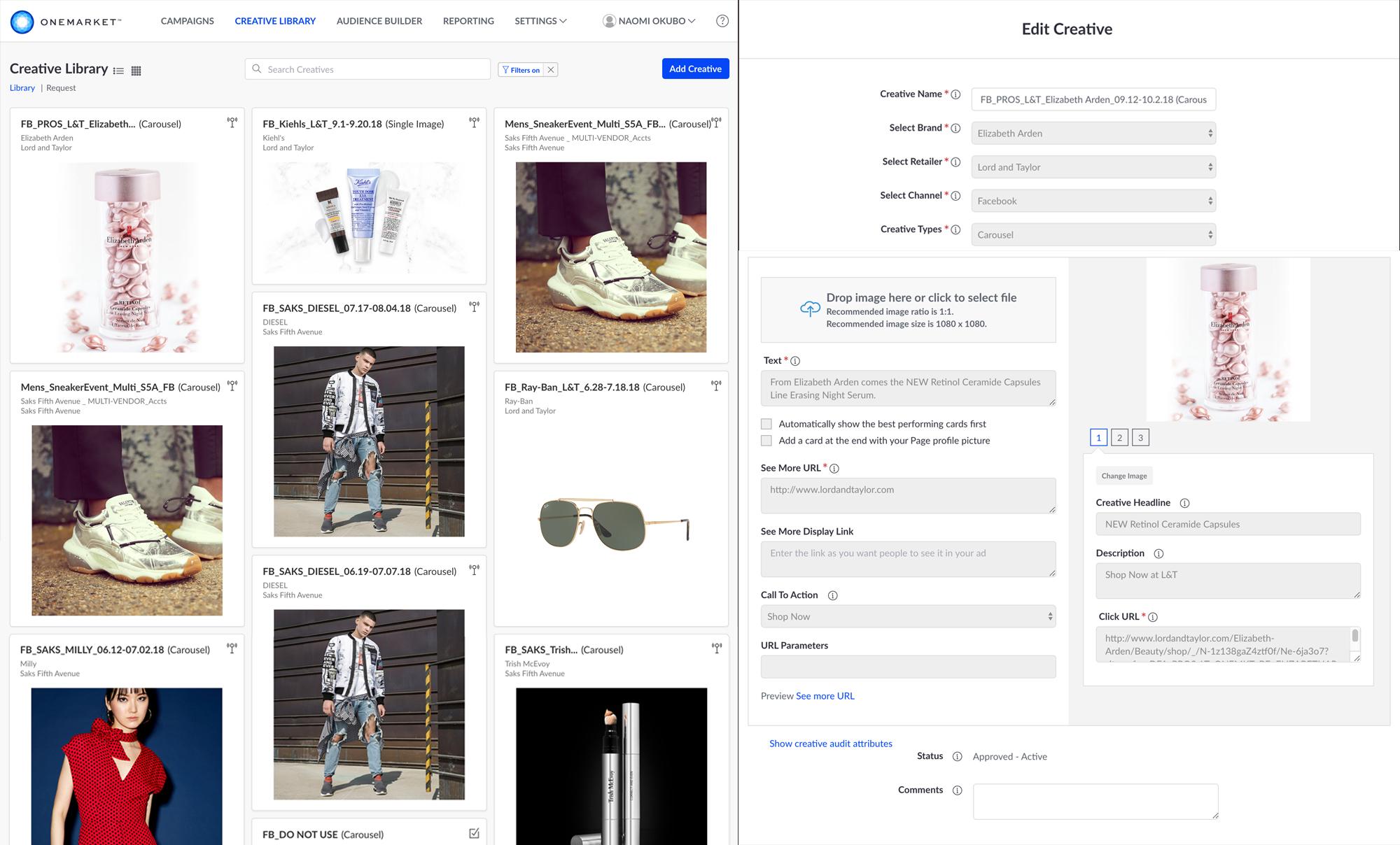 OneMarket WebApp Design
