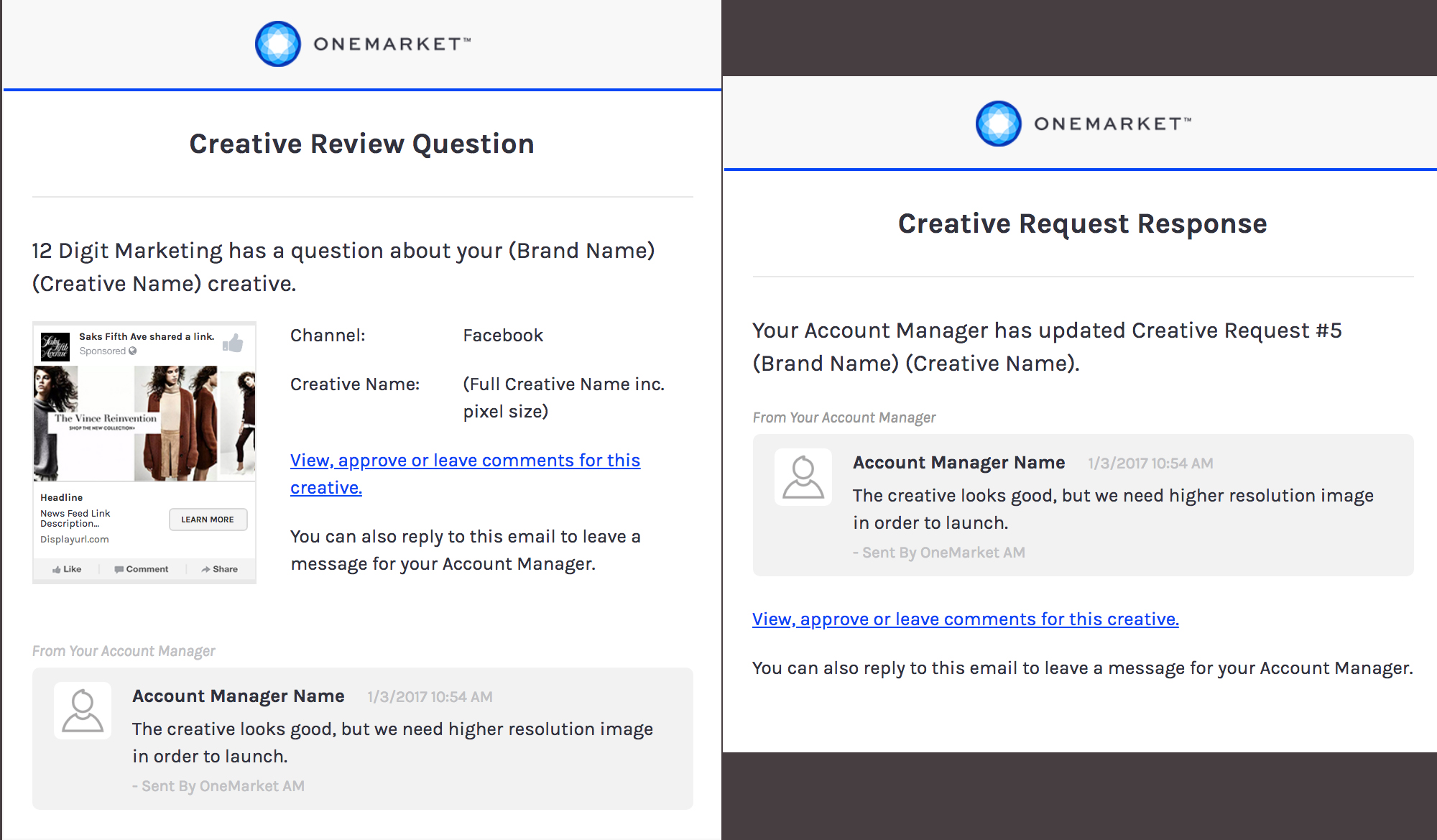 OneMarket Responsive Email